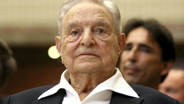 George Soros, Founder and Chairman of the Open Society Foundations, looks before the Joseph A. Schumpeter award ceremony in Vienna, Austria, Friday, June 21, 2019 - Sputnik International