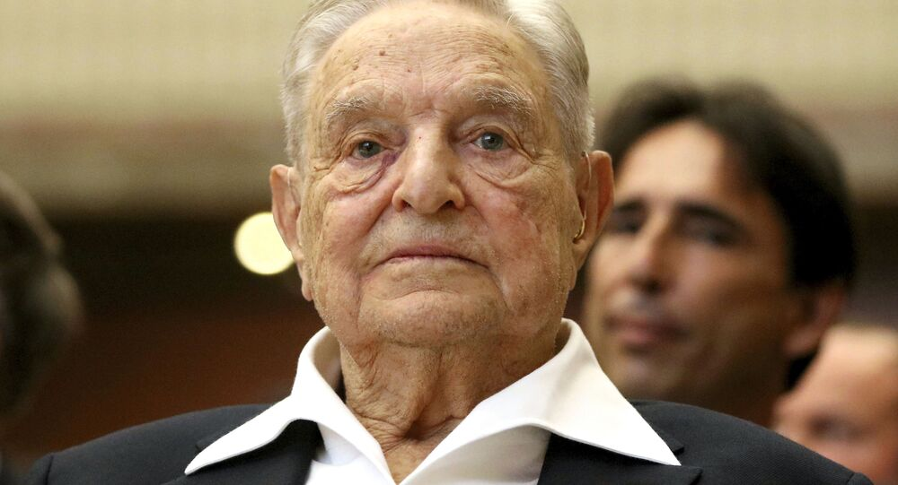 George Soros, Founder and Chairman of the Open Society Foundations, looks before the Joseph A. Schumpeter award ceremony in Vienna, Austria, 21 June 2019