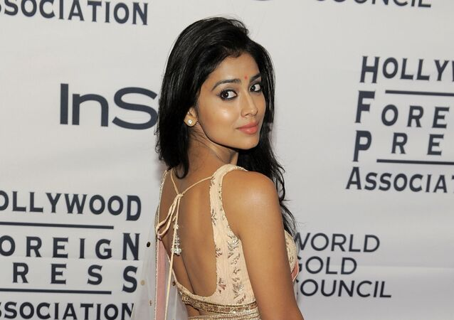 Actress Shriya Saran arrives at the 13th Annual InStyle and Hollywood Foreign Press Association Toronto International Film Festival Party, Tuesday, Sept. 11, 2012, in Toronto