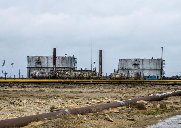 Surakhani Oil Field t the coast of the Caspian Sea outside Baku