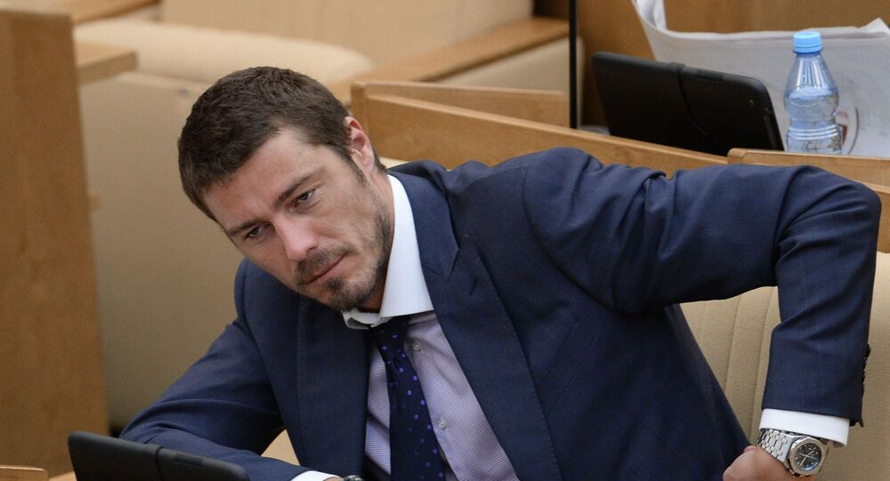 Former Russian tennis player and lawmaker Marat Safin in the Russian State Duma