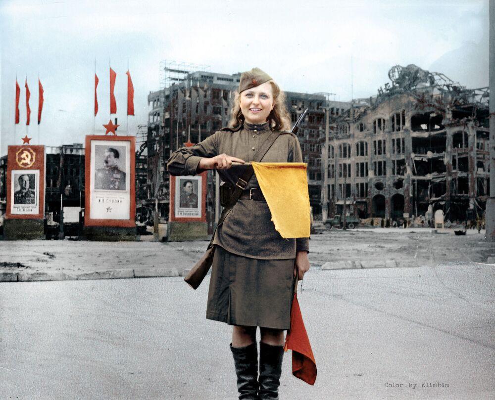 Private Lyuba Rosenova in Berlin.