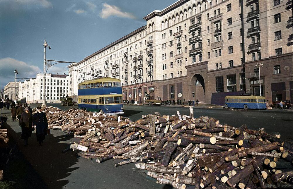 Wood piles for Muscovites, 1941.