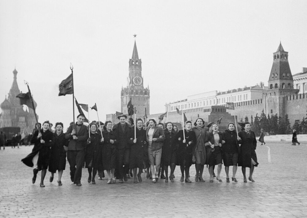 Victory Day morning on 9 May 1945 on Red Square