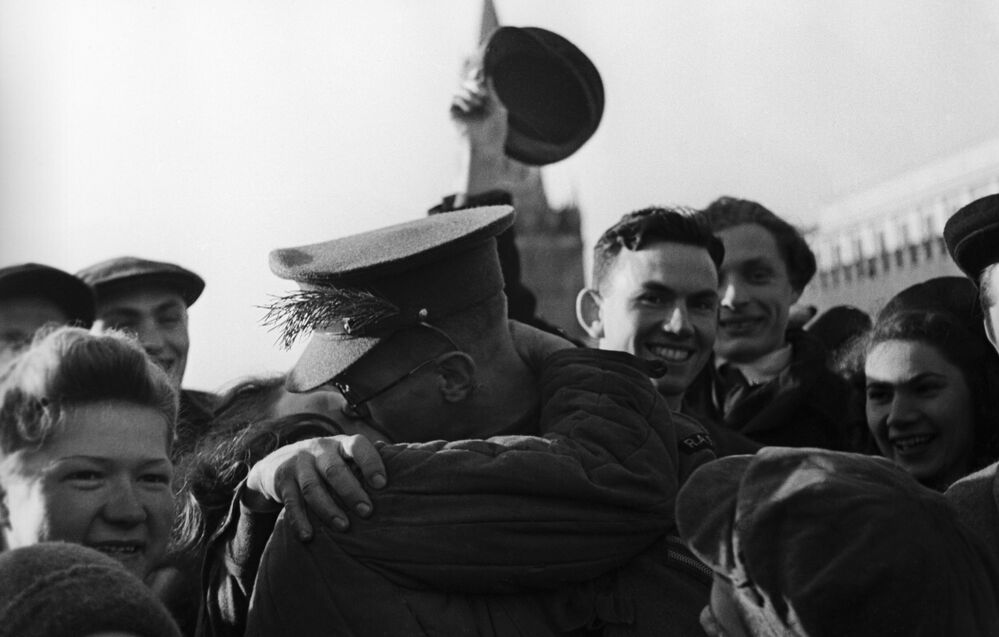 Victory Day celebrations on Red Square in Moscow on 9 May 1945