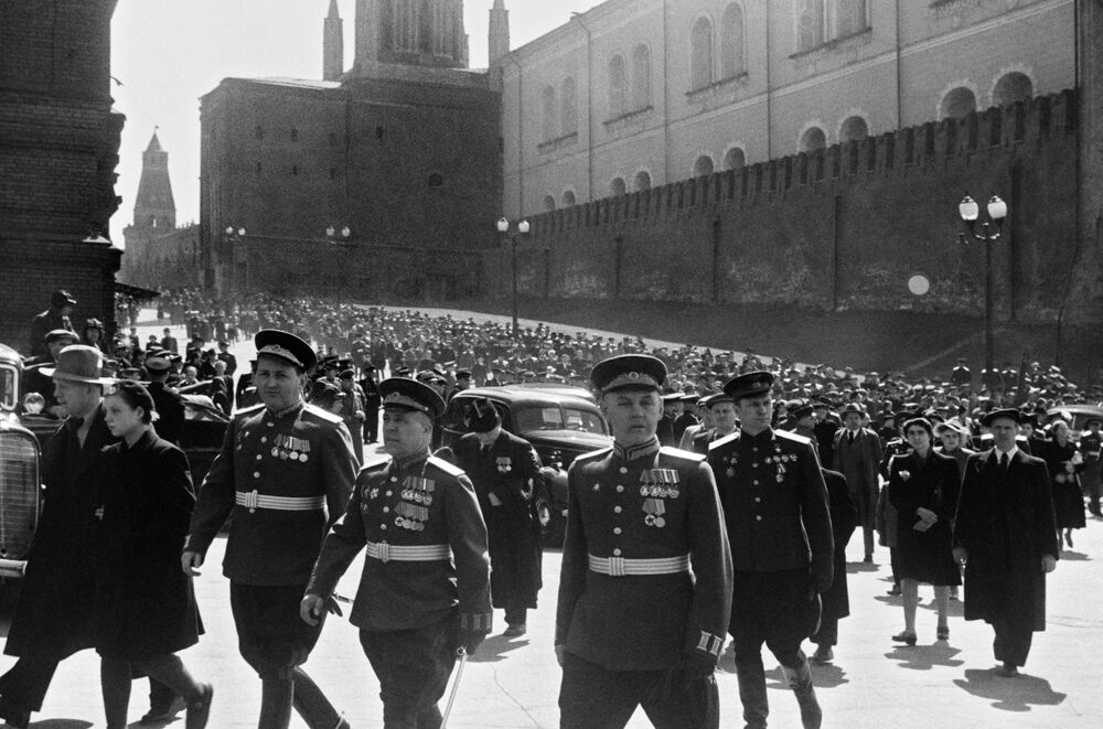 Victory Day parade on Red Square on 24 June 1945