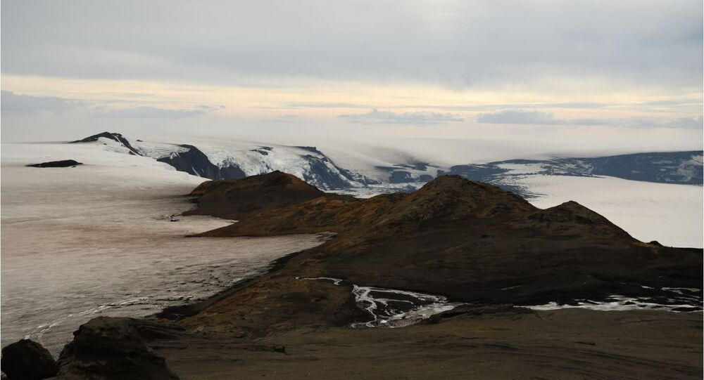 Grimsvotn volcano in the middle of the Icecap Iceland