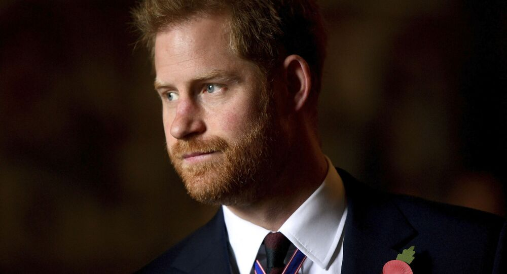 In this Thursday, April 25, 2019 file photo, Britain's Prince Harry, the Duke of Sussex leaves the Anzac Day Service of Commemoration and Thanksgiving at Westminster Abbey, in London