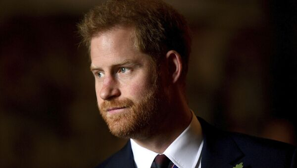 In this Thursday, April 25, 2019 file photo, Britain's Prince Harry, the Duke of Sussex leaves the Anzac Day Service of Commemoration and Thanksgiving at Westminster Abbey, in London - Sputnik International