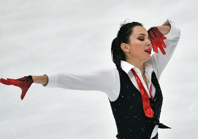 Elizaveta Tuktamysheva performs her free program in the women's competition at the Figure Skating Tournament in Espoo