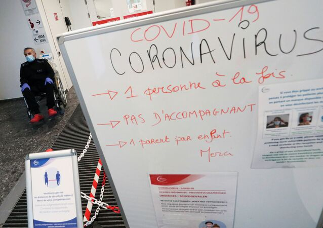 Belgian doctor Antoine Sassine, urologist at CHIREC Delta Hospital, who survived the coronavirus disease (COVID-19) after spending 6 weeks in the intensive care unit, among it 3.5 weeks in a coma, waits before leaving the CHIREC Delta Hospital in Brussels, Belgium, April 19, 2020