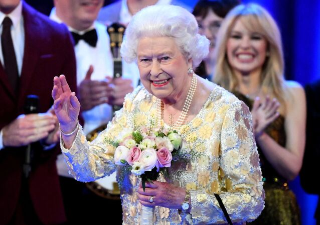 Britain's Queen Elizabeth II attends The Queen's Birthday Party concert on the occasion of Her Majesty's 92nd birthday at the Royal Albert Hall in London on April 21, 2018.