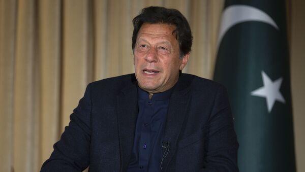 Pakistan's Prime Minister Imran Khan speaks to The Associated Press, in Islamabad, Pakistan, Monday, March 16, 2020 - Sputnik International