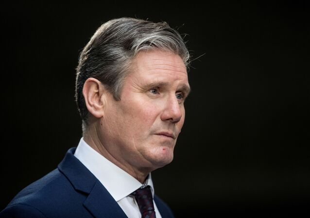Britain's opposition Labour Party Shadow Brexit Secretary Keir Starmer speaks to members of the media as he leaves the BBC headquarters after appearing on The Andrew Marr Show in London, Britain January 5, 2020.