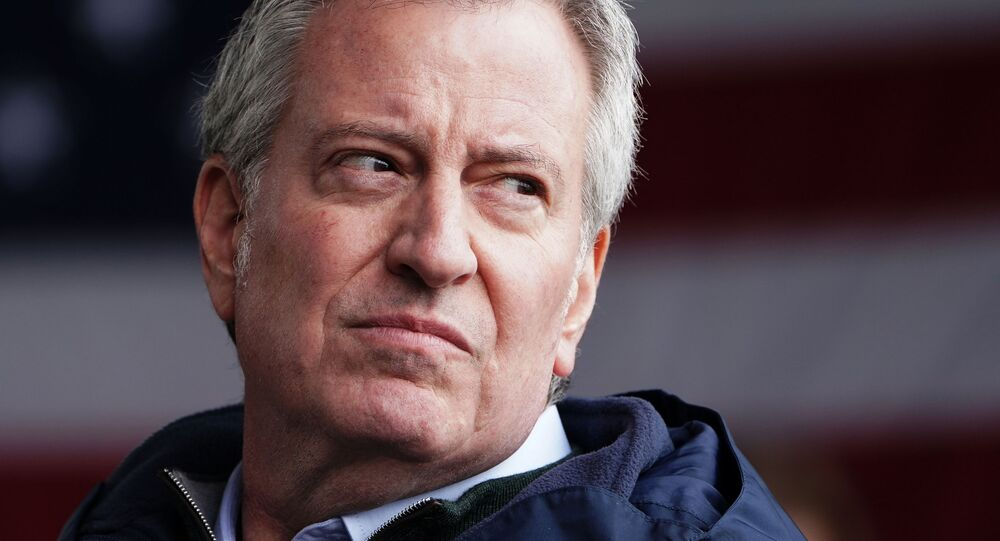 New York Mayor Bill de Blasio speaks after the USNS Comfort pulled into a berth in Manhattan during the outbreak of coronavirus disease (COVID-19), in the Manhattan borough of New York City, New York, U.S., March 30, 2020
