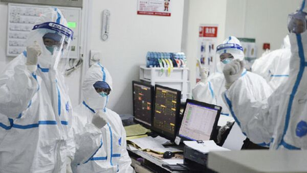 Members of the medical staff work at the Central Hospital in Wuhan, China (File) - Sputnik International