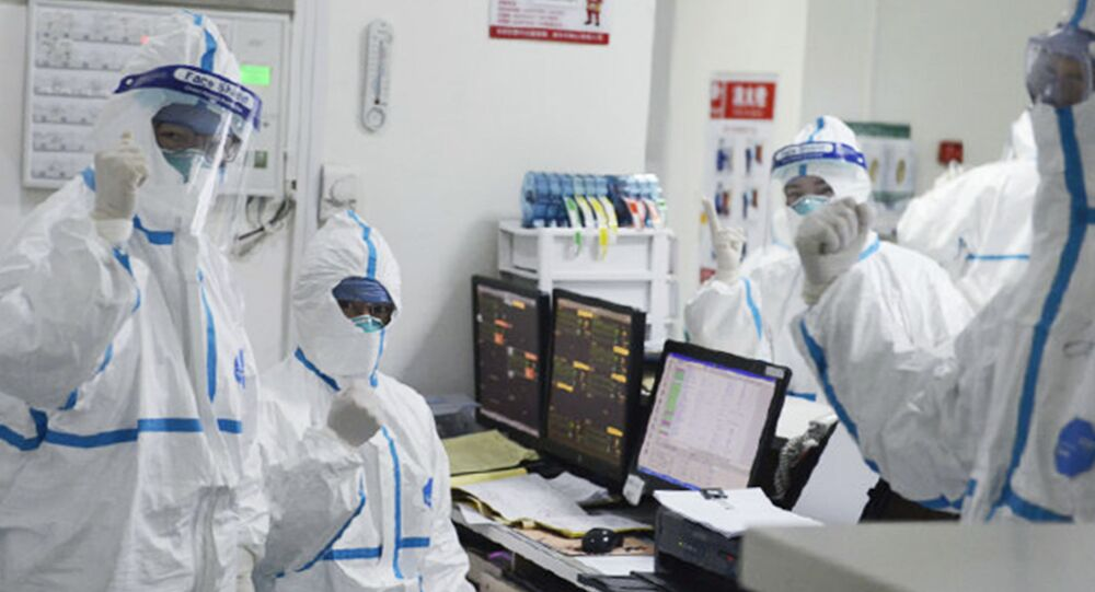 Members of the medical staff work at the Central Hospital in Wuhan, China (File)