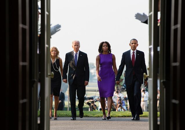 President Barack Obama, First Lady Michelle Obama, Vice President Joe Biden and Dr. Jill Biden