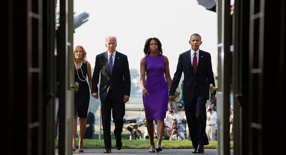 President Barack Obama, First Lady Michelle Obama, Vice President Joe Biden and Dr. Jill Biden