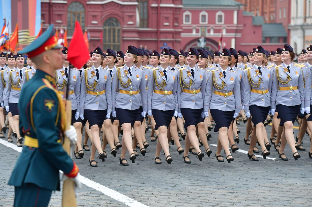 Marching on Red Square, 2019.