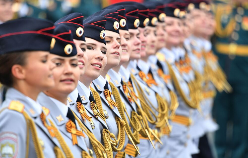 Cadets at the military parade on Red Square.