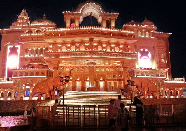 Kingdom of Dreams auditorium, Nautanki Mahal, night view, Gurgaon