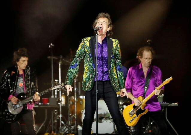 Mick Jagger, Keith Richards and Ronnie Wood of The Rolling Stones perform during their No Filter U.S. Tour at Rose Bowl Stadium in Pasadena, California, U.S., August 22, 2019