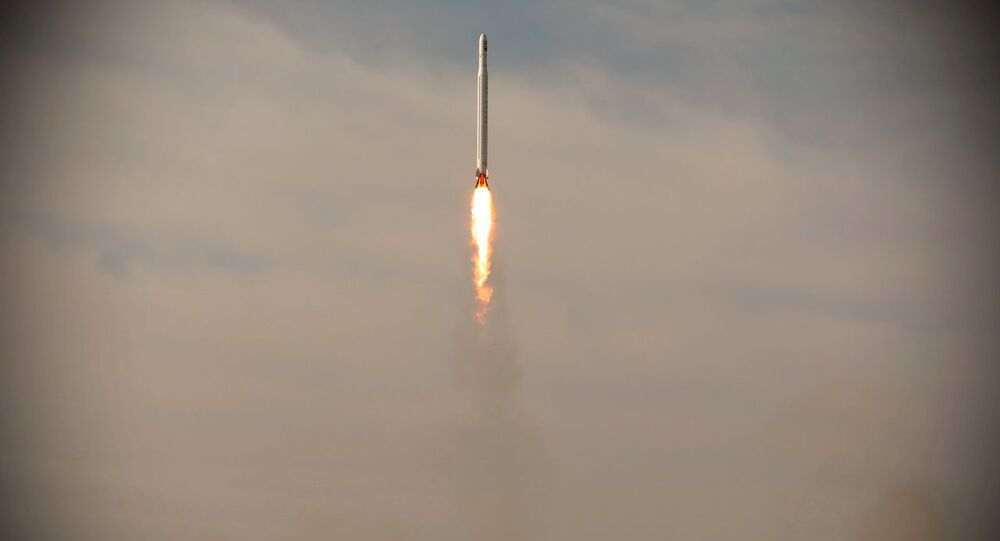 A first military satellite named Noor is launched into orbit by Iran's Revolutionary Guards Corps, in Semnan, Iran April 22, 2020