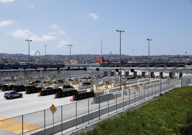 A view of the lanes where U.S. federal agents inspect vehicles leaving the country at the U.S.-Mexico border after U.S. President Donald Trump tweeted that he will be signing an Executive Order to temporarily suspend immigration into the U.S. during the coronavirus disease (COVID-19) outbreak in San Diego, California, U.S., April 21, 2020