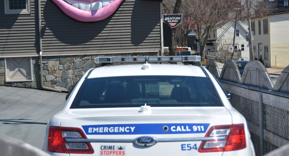 The office of denturist Gabriel Wortman, who police say went on a shooting spree killing multiple people, is seen in Dartmouth, Nova Scotia, Canada April 19, 2020