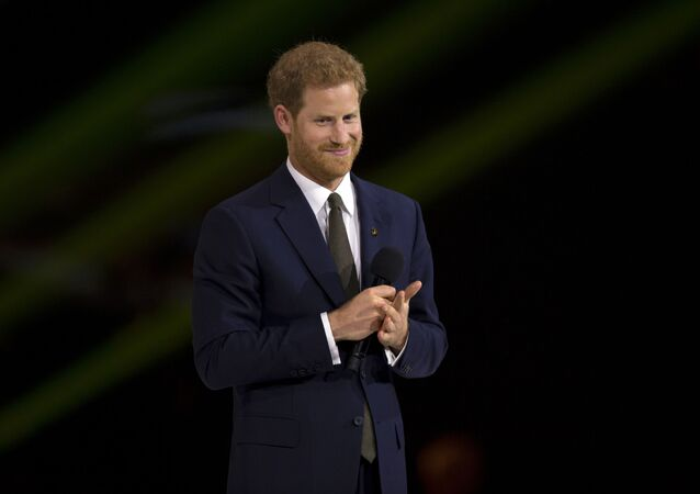 Prince Harry speaks during the opening ceremonies of the 2017 Invictus Games