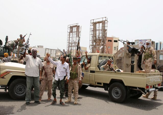 Southern Transitional Council forces in Aden