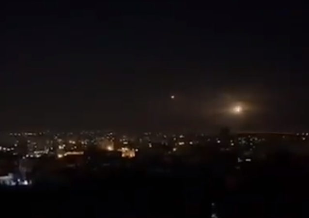 An alleged attack of 'Israeli' Air forces in Syria, 27 April, 2020