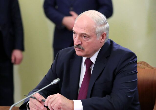 President Alexander Lukashenko  of Belarus during a working visit to Russia, December 2019.
