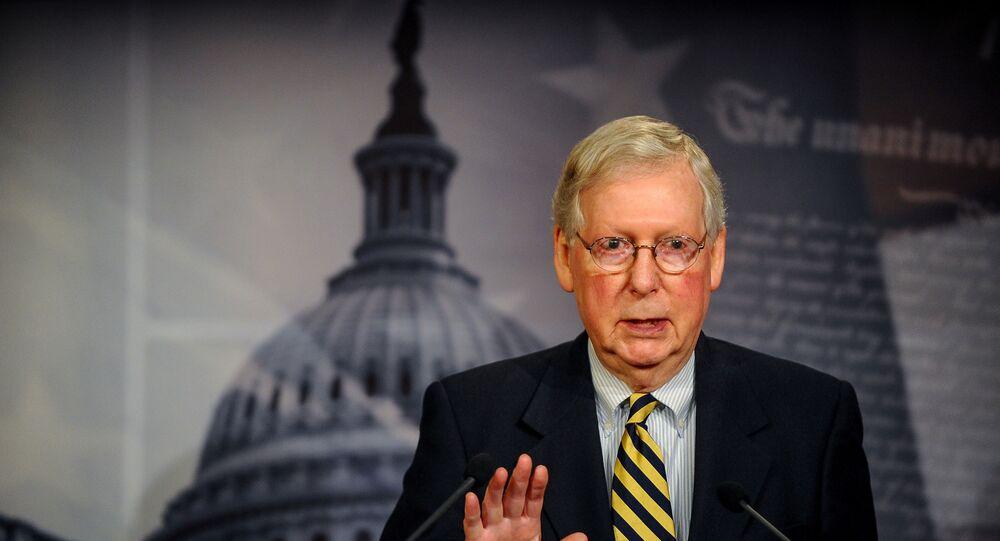 US Senate Majority Leader Mitch McConnel in Washington