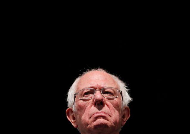 U.S. Democratic presidential candidate Bernie Sanders speaks during a rally in St Louis, Missouri, U.S., March 9, 2020