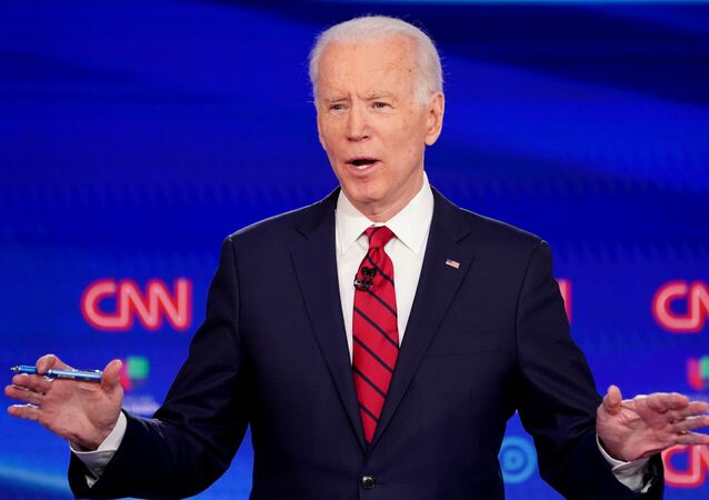 Democratic US presidential candidate and former Vice President Joe Biden in Washington