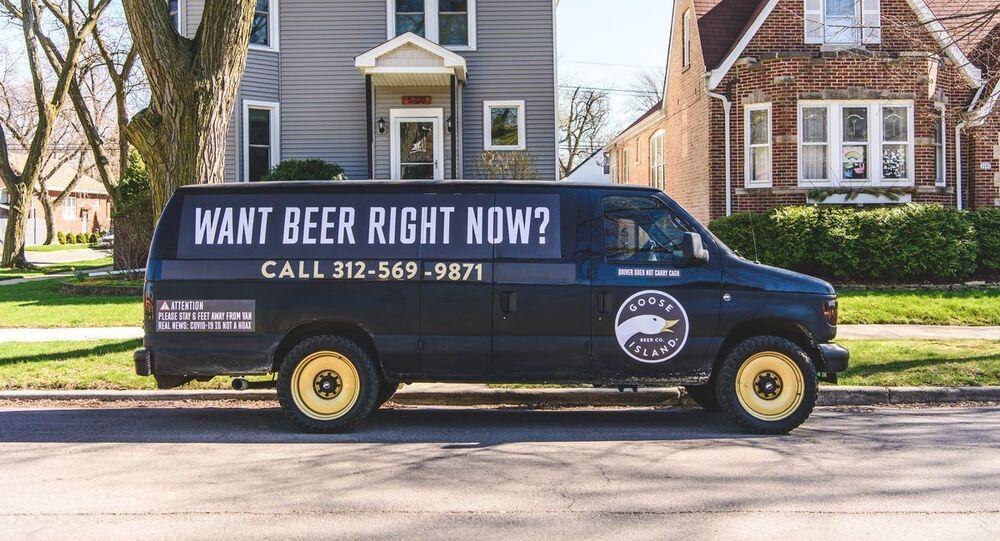 Goose Island's roaming beer van