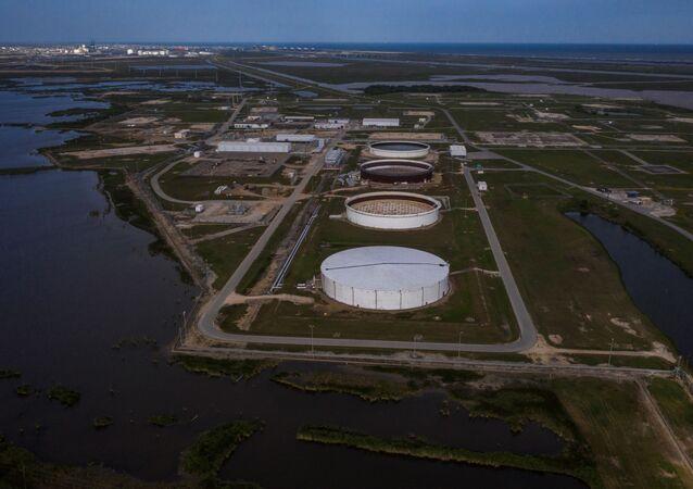 The Bryan Mound Strategic Petroleum Reserve in Freeport, Texas