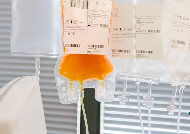 Convalescent plasma is collected from some of Britain's first-recovered COVID-19 patients as part of a clinical trial, to be transfused to patients struggling to fight the coronavirus disease (COVID-19), at Tooting Blood Donor Centre, in Tooting, London, Britain April 25, 2020