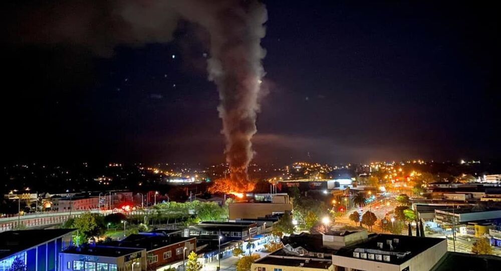 Fire in Auckland, New Zealand