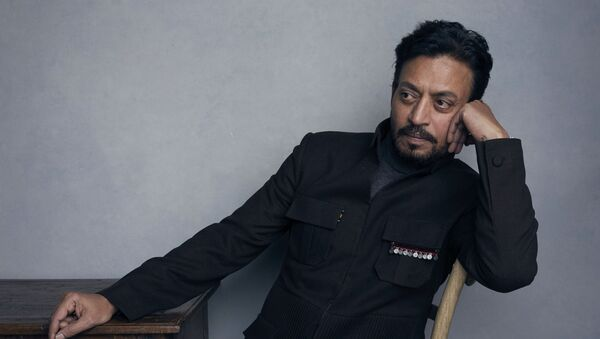 FILE - In this Jan. 22, 2018 file photo, actor Irrfan Khan poses for a portrait to promote the film Puzzle during the Sundance Film Festival in Park City, Utah - Sputnik International
