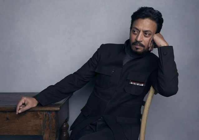 FILE - In this Jan. 22, 2018 file photo, actor Irrfan Khan poses for a portrait to promote the film Puzzle during the Sundance Film Festival in Park City, Utah