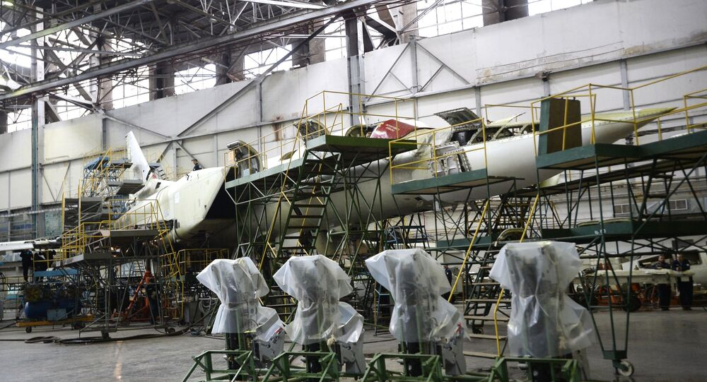 Construction of a long-range supersonic missile bomber Tu-22M3 at the Kazan Aircraft Plant