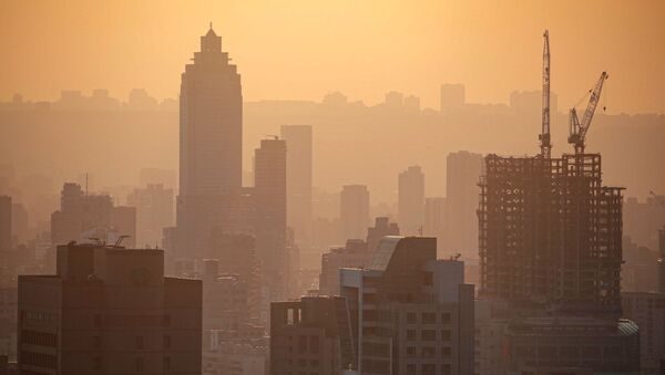 General view of the city during sunset hour in Taipei, Taiwan, April 29, 2020 - Sputnik International