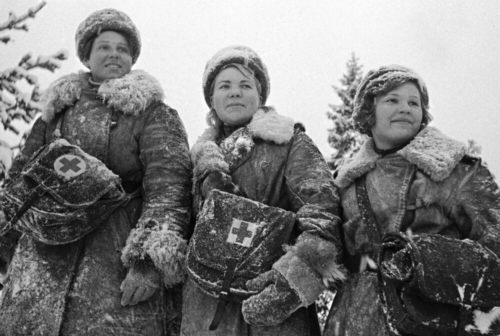 Nurses in Leningrad on 31 January 1942