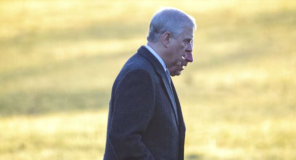 Britain's Prince Andrew, foreground, and Prince Charles arrive to attend a church service at St. Mary Magdalene Church in Sandringham, Norfolk, 25 December 2019