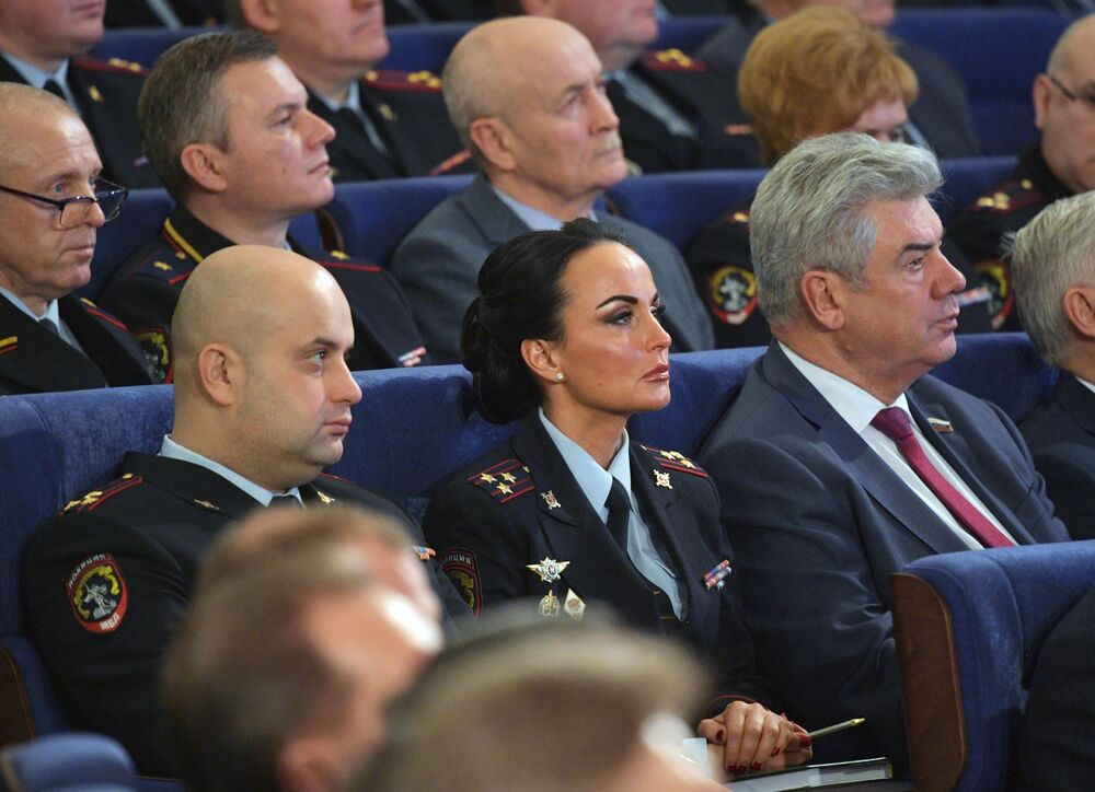 Official representative of the Russian Interior Ministry Police Major General Irina Volk during a ministerial meeting on 26 February 2020