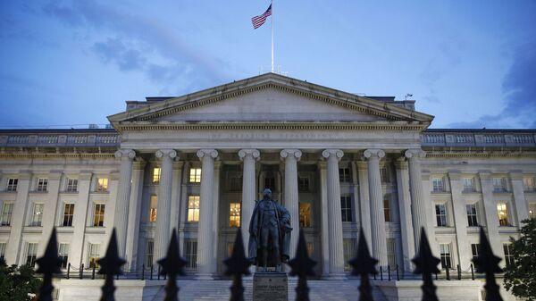 The U.S. Treasury Department building at dusk, Thursday, June 6, 2019, in Washington. - Sputnik International