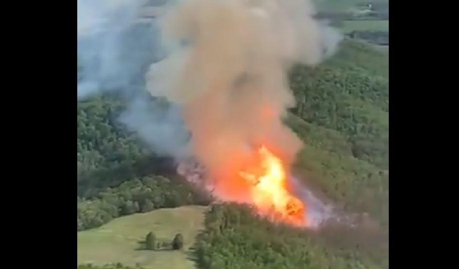 Gas line explosion in Fleming County